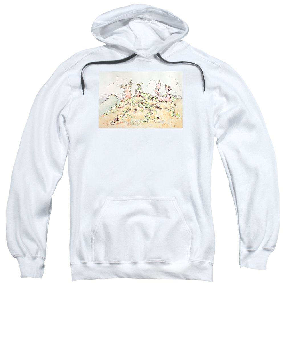 Angel Sweatshirt featuring the painting My Guardians by Dave Martsolf