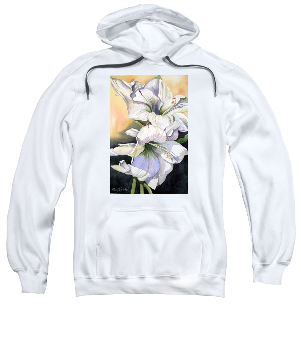 Flower Sweatshirt featuring the painting My Love by Tatiana Escobar