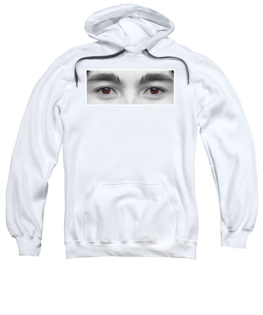 Eyes Sweatshirt featuring the photograph My Son's Eyes by James BO Insogna