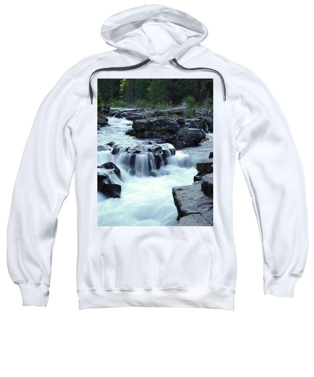 Waterfall Sweatshirt featuring the photograph Natural Bridges Falls 03 by Peter Piatt