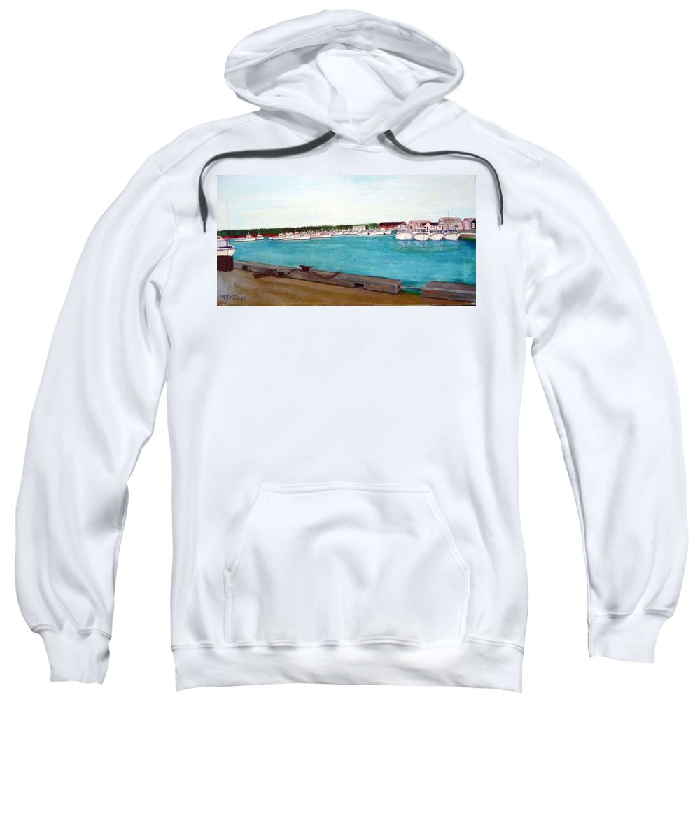 Naufrage Pei Sweatshirt featuring the painting Naufrage Harbour Pei by Richard Le Page