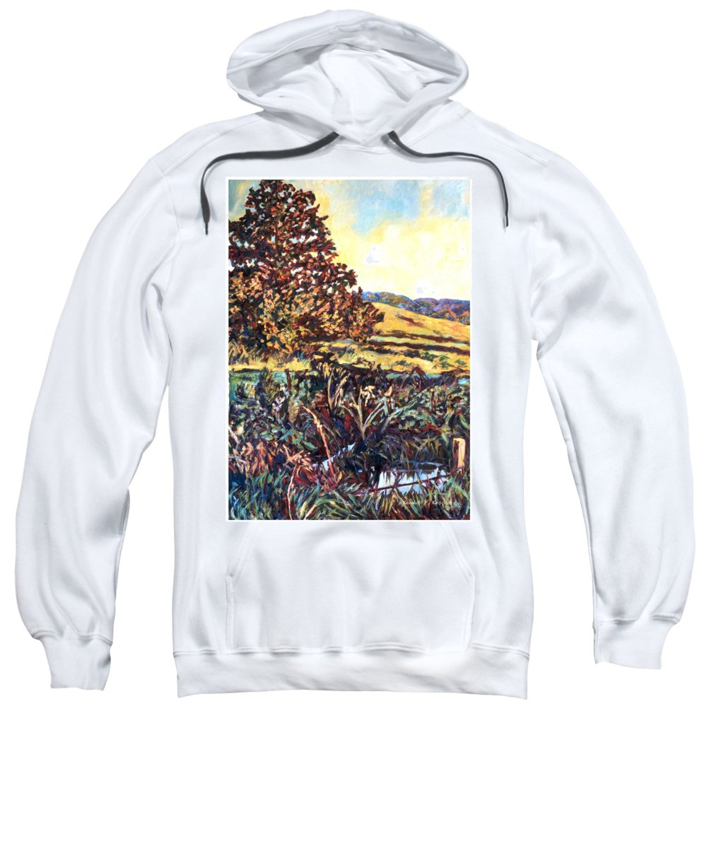 Landscape Sweatshirt featuring the painting Near Childress by Kendall Kessler