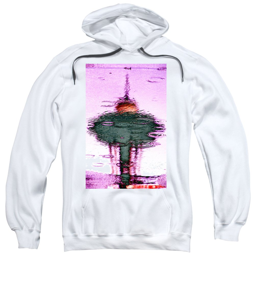 Seattle Sweatshirt featuring the photograph Needle In A Raindrop Stack 2 by Tim Allen