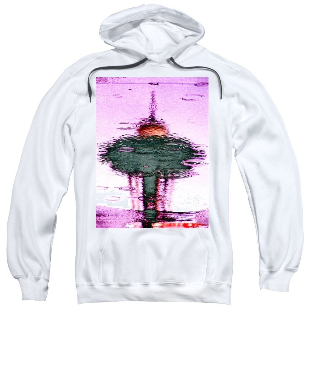 Seattle Sweatshirt featuring the photograph Needle In A Raindrop Stack 5 by Tim Allen