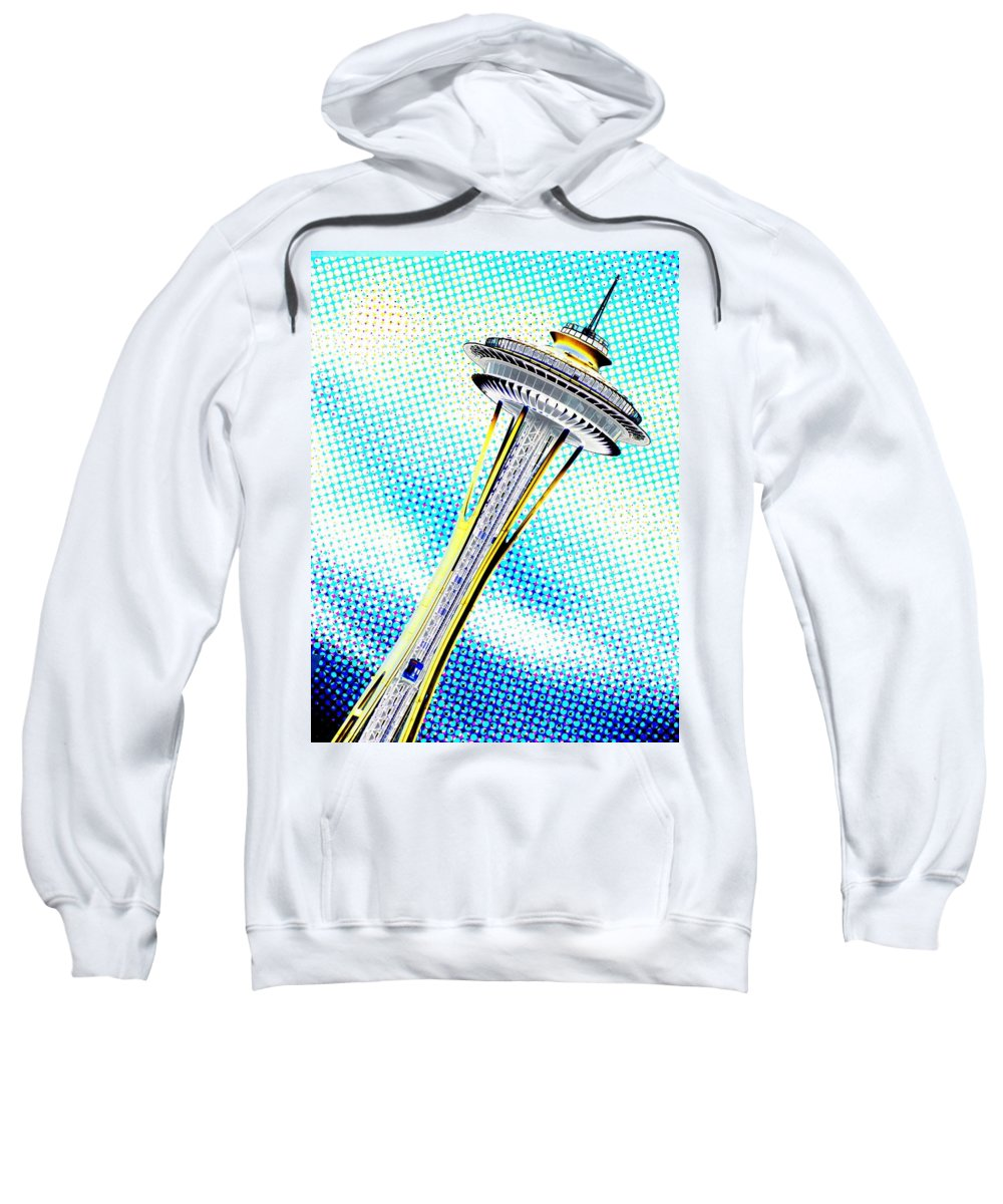 Seattle Sweatshirt featuring the photograph Needle In Newsprint by Tim Allen