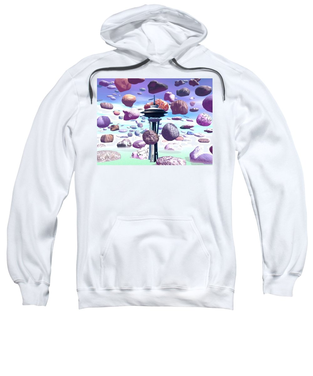 Seattle Sweatshirt featuring the photograph Needle Rocks by Tim Allen