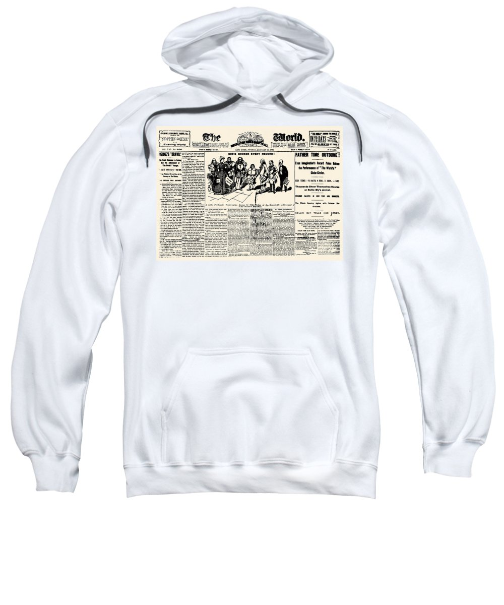 1890 Sweatshirt featuring the photograph Nellie Bly (1867-1922) by Granger