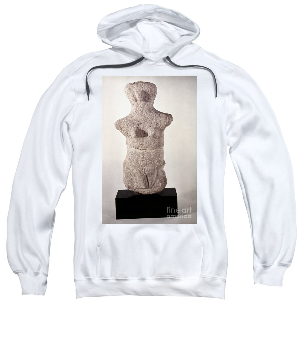 3500 B.c. Sweatshirt featuring the photograph Neolithic Figure by Granger