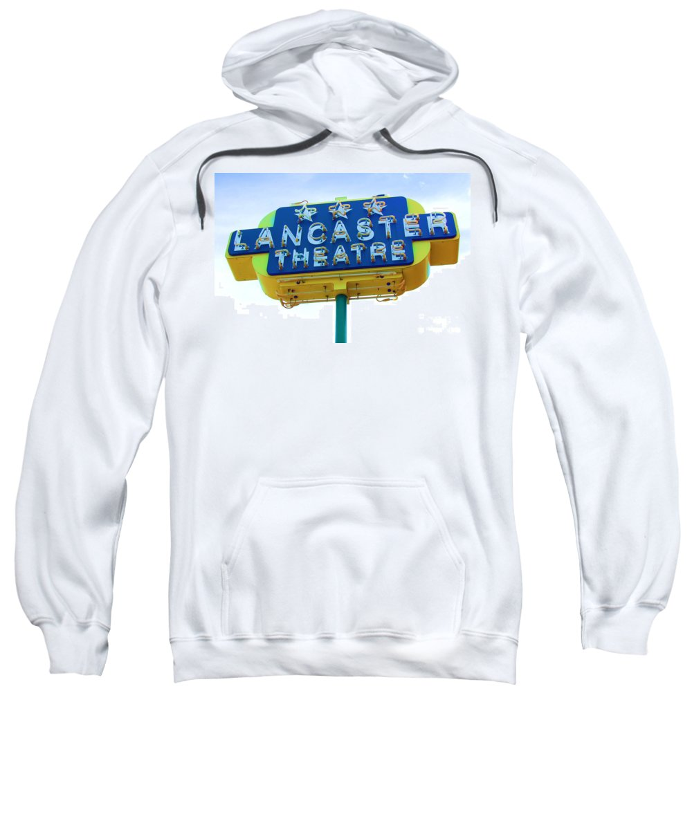 Sign Sweatshirt featuring the photograph Neon by Debbi Granruth