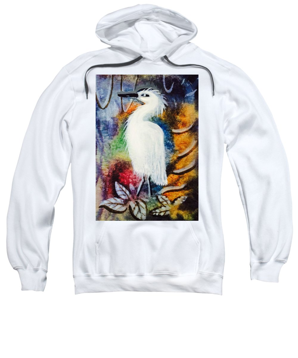 Birds Sweatshirt featuring the mixed media Nesting Resting by Walter M Davis