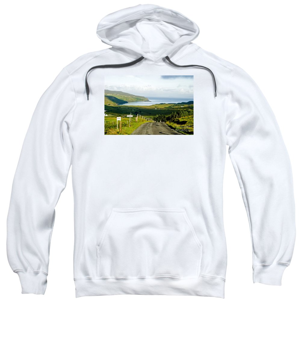Fasach Sweatshirt featuring the photograph Never Never Land by Jim Macdonald