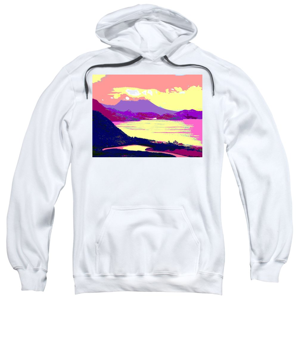 Nevis Sweatshirt featuring the photograph Nevis From The Penninsula by Ian MacDonald