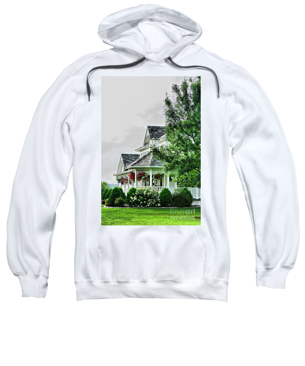 New England Sweatshirt featuring the photograph New England Beauty by Deborah Benoit