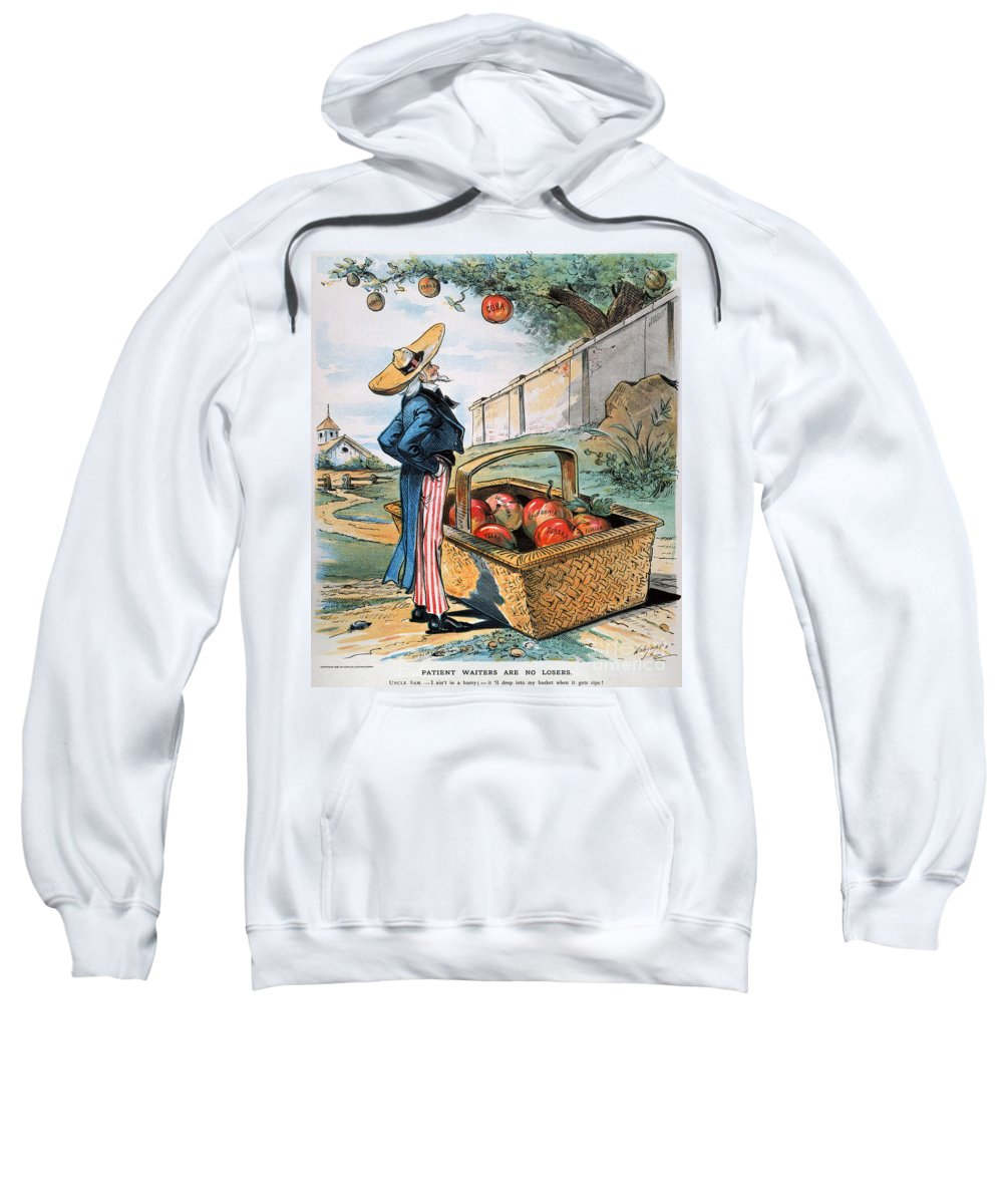 1897 Sweatshirt featuring the photograph New Territories Cartoon by Granger