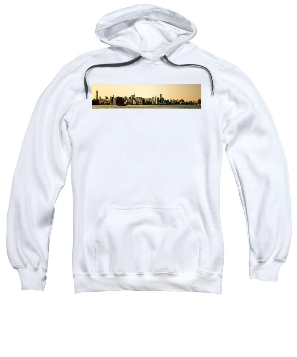 Panorama Sweatshirt featuring the photograph New York City Skyline Panorama by Vivienne Gucwa