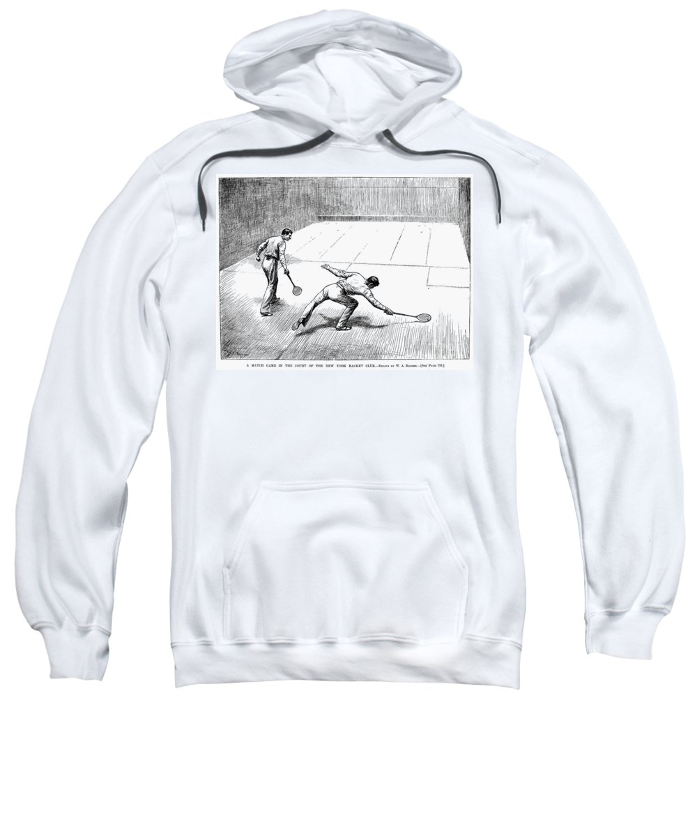 1890 Sweatshirt featuring the photograph New York Racket Club by Granger
