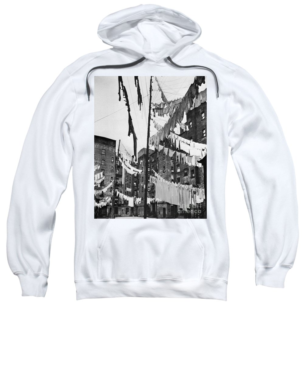 1936 Sweatshirt featuring the photograph New York: Tenement, 1936 by Granger