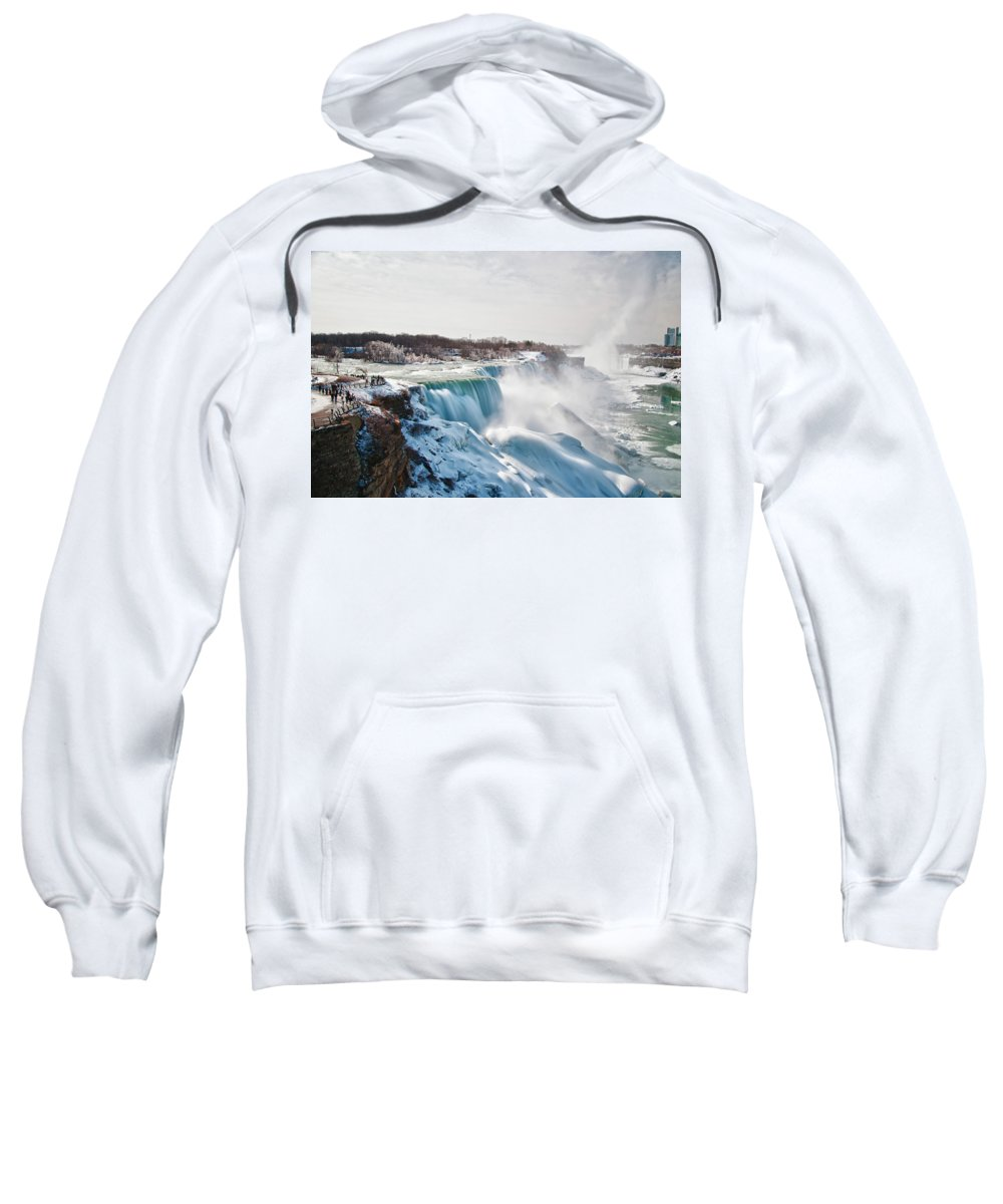 Niagara Falls Sweatshirt featuring the photograph Niagara Falls 4589 by Guy Whiteley