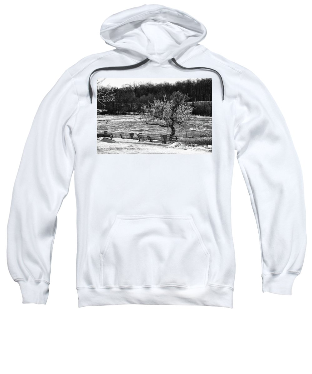 Niagara Falls Sweatshirt featuring the photograph Niagara Falls Ice 4514 by Guy Whiteley