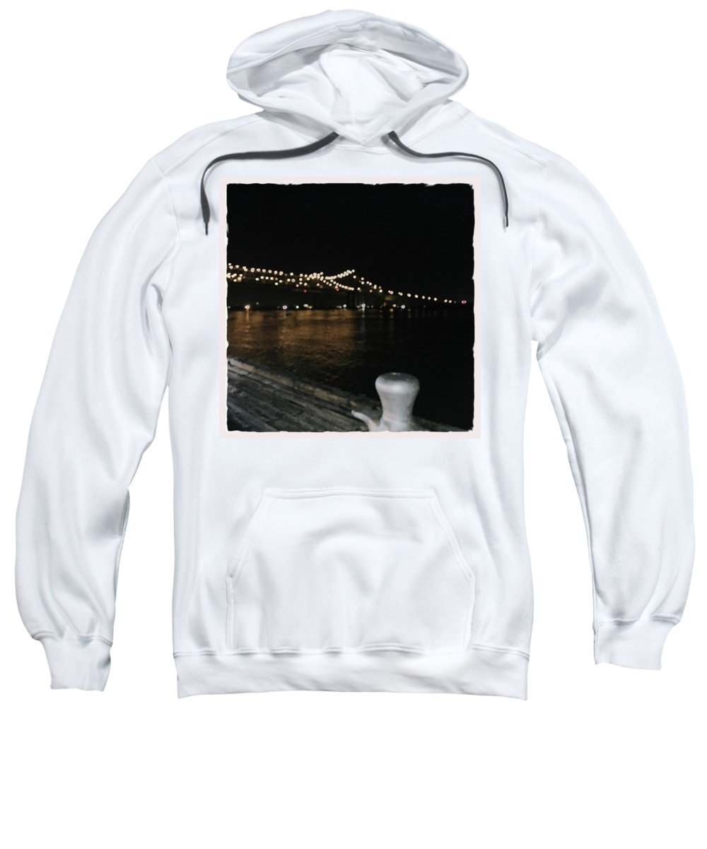 Mississippi River Sweatshirt featuring the photograph Night In New Orleans by Judith Kitzes