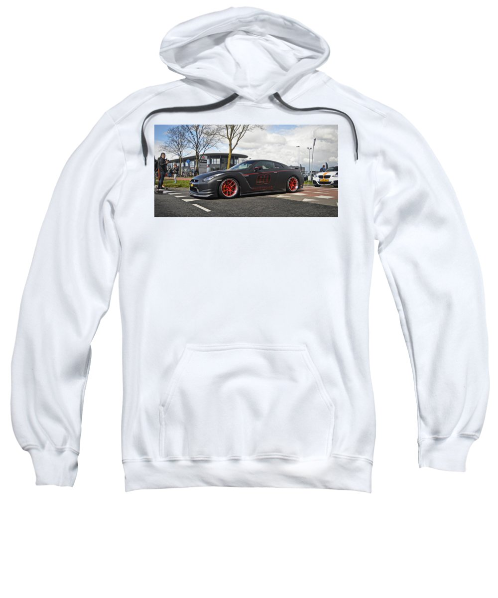 Nissan Sweatshirt featuring the photograph Nissan GT-R by Jk Photography
