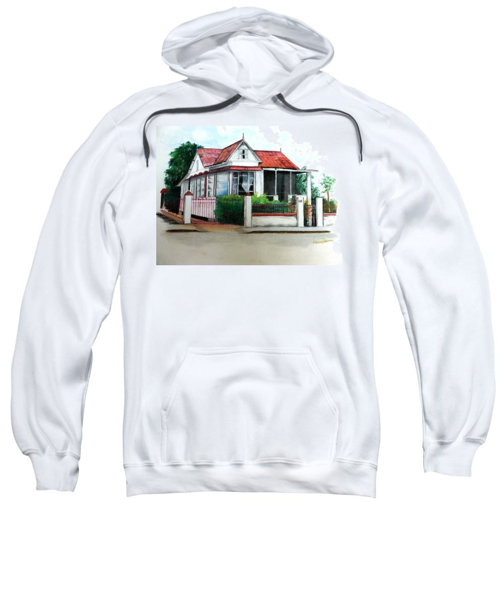 Trinidad House Sweatshirt featuring the pastel No 88 by Karin Dawn Kelshall- Best