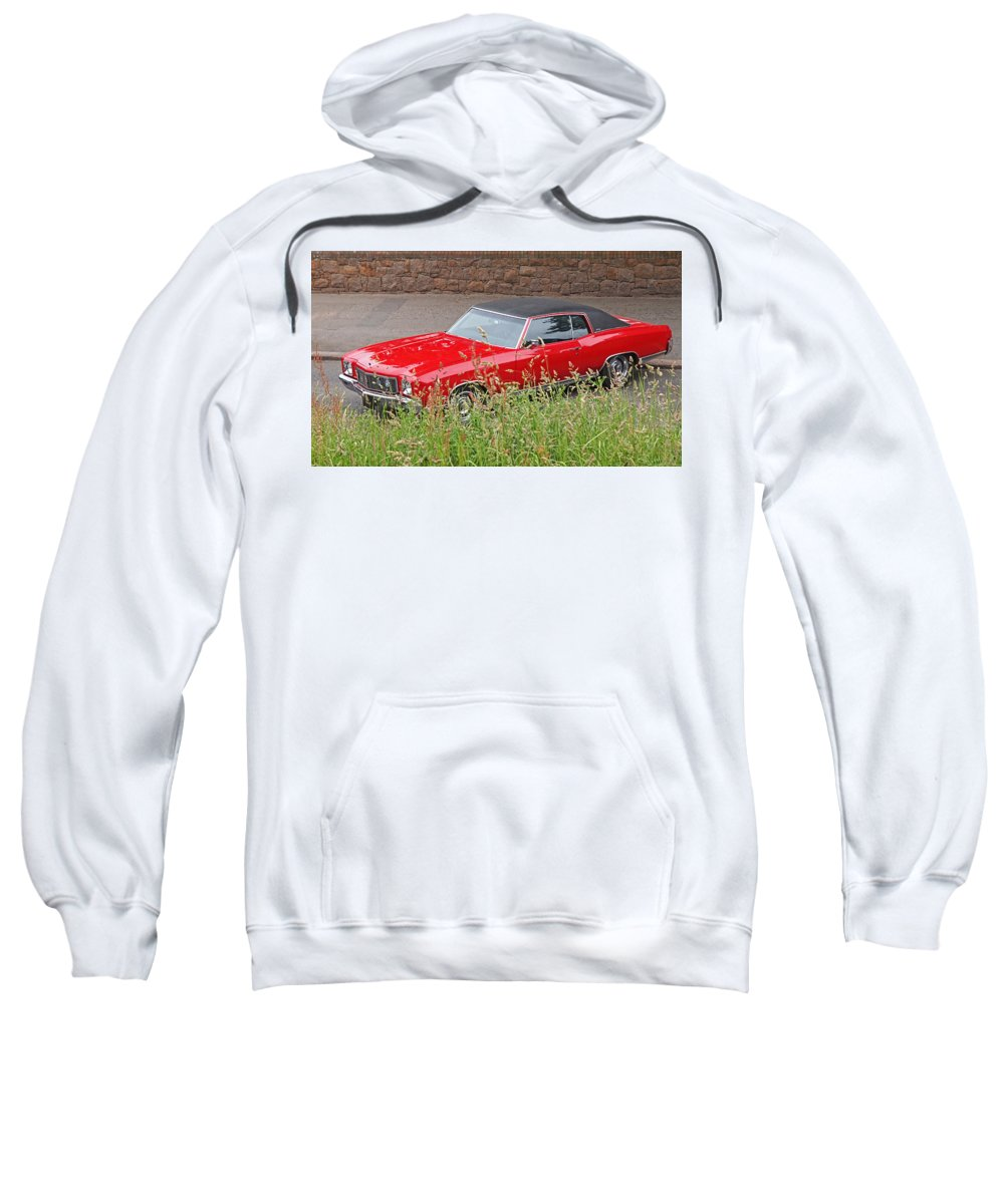 Classic Chevy Sweatshirt featuring the photograph No Hiding Place - Monte Carlo Ss 1970 by Gill Billington