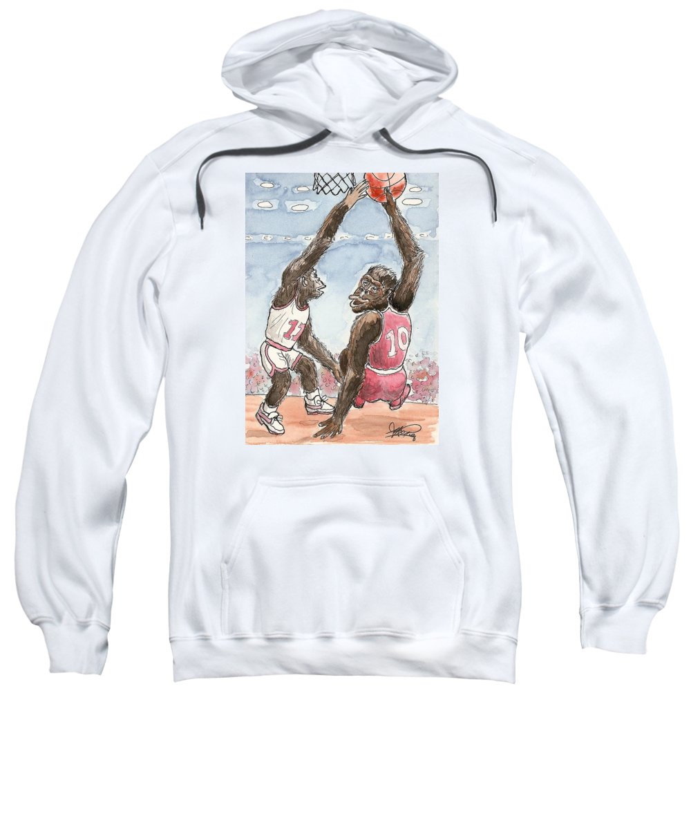 Basketbal Sweatshirt featuring the painting No No No by George I Perez