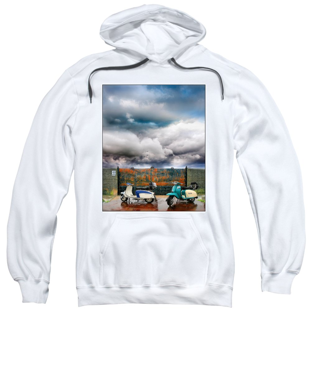 Scooters Sweatshirt featuring the photograph No Parking by Mal Bray
