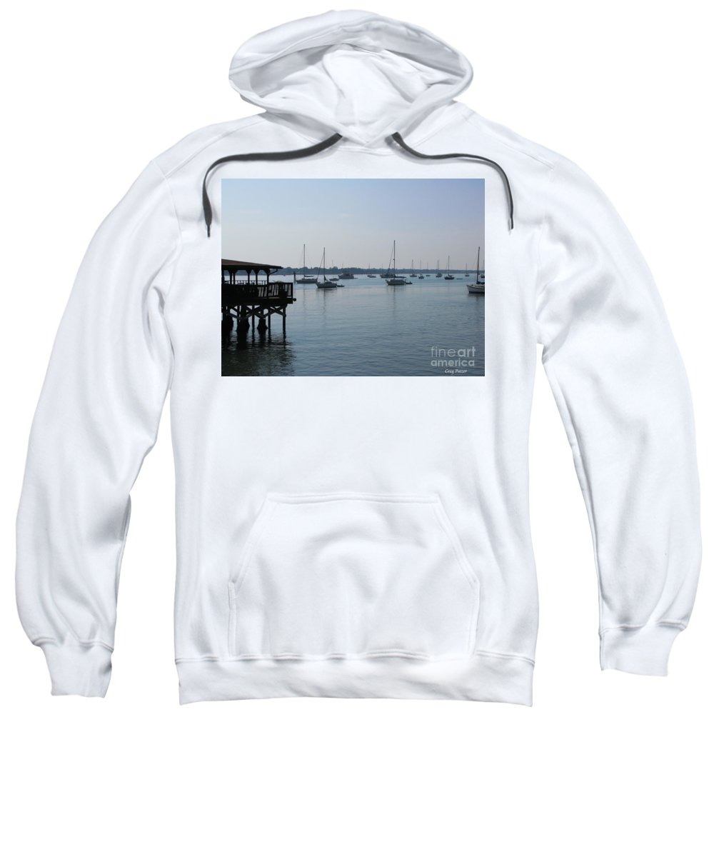 Art For The Wall...patzer Photography Sweatshirt featuring the photograph No Wind by Greg Patzer