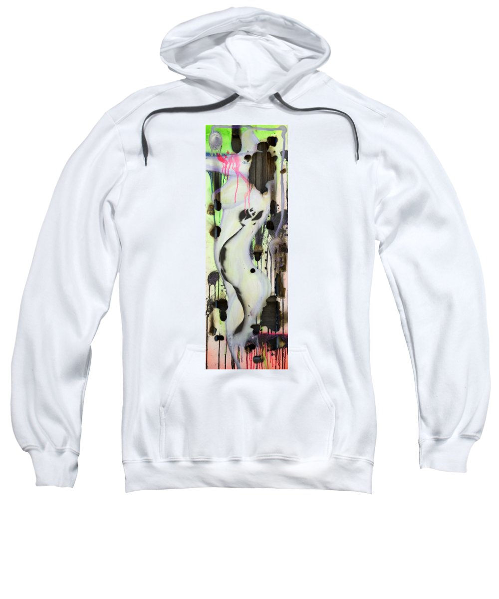 Woman Sweatshirt featuring the painting No Winners In Love by Sheridan Furrer