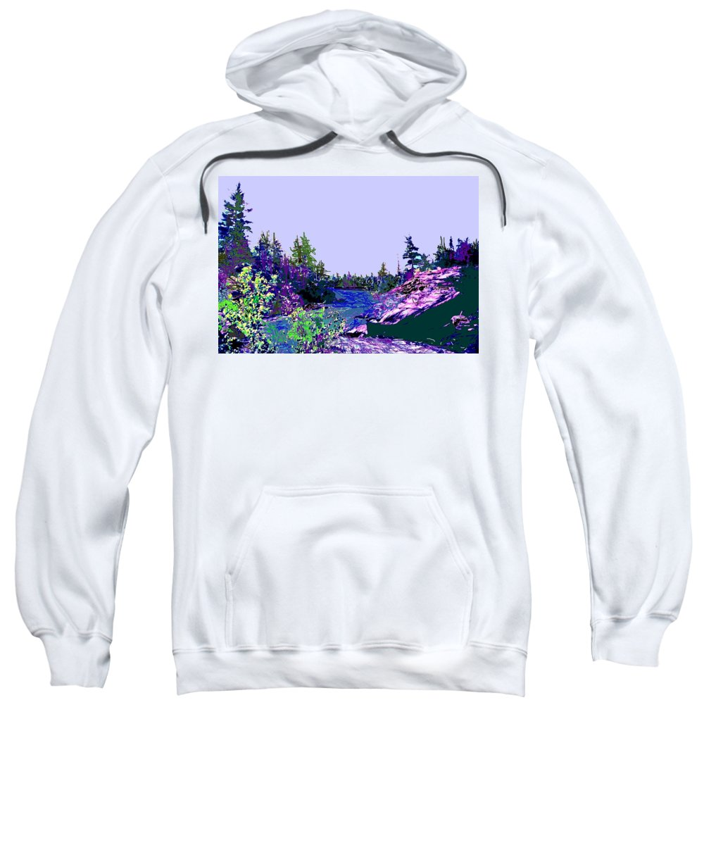 Norlthern Sweatshirt featuring the photograph Northern Ontario River by Ian MacDonald