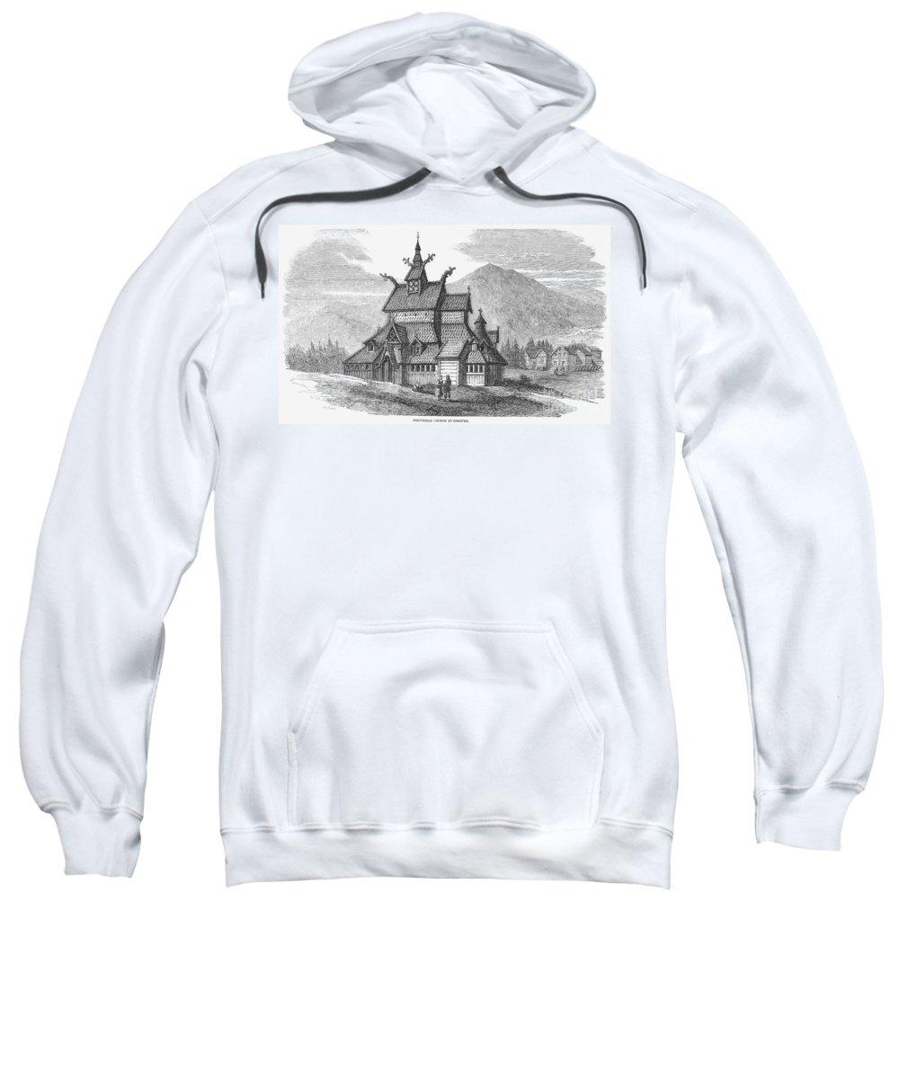 12th Century Sweatshirt featuring the photograph Norway: Borgund Church by Granger