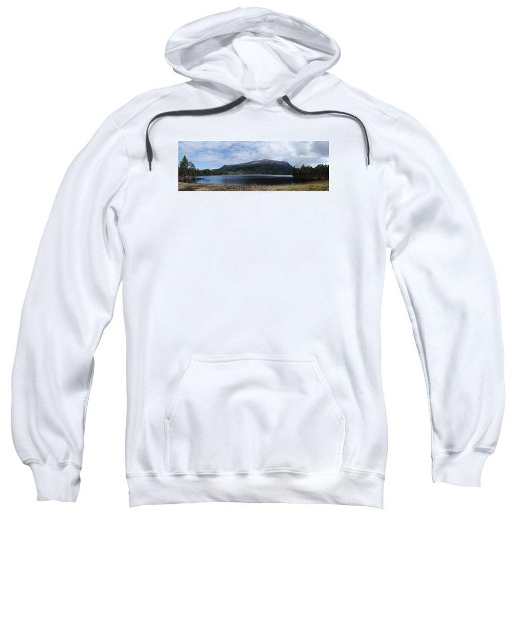 Norwegen Sweatshirt featuring the photograph Norwegian Lake by Hannes Bielefeldt