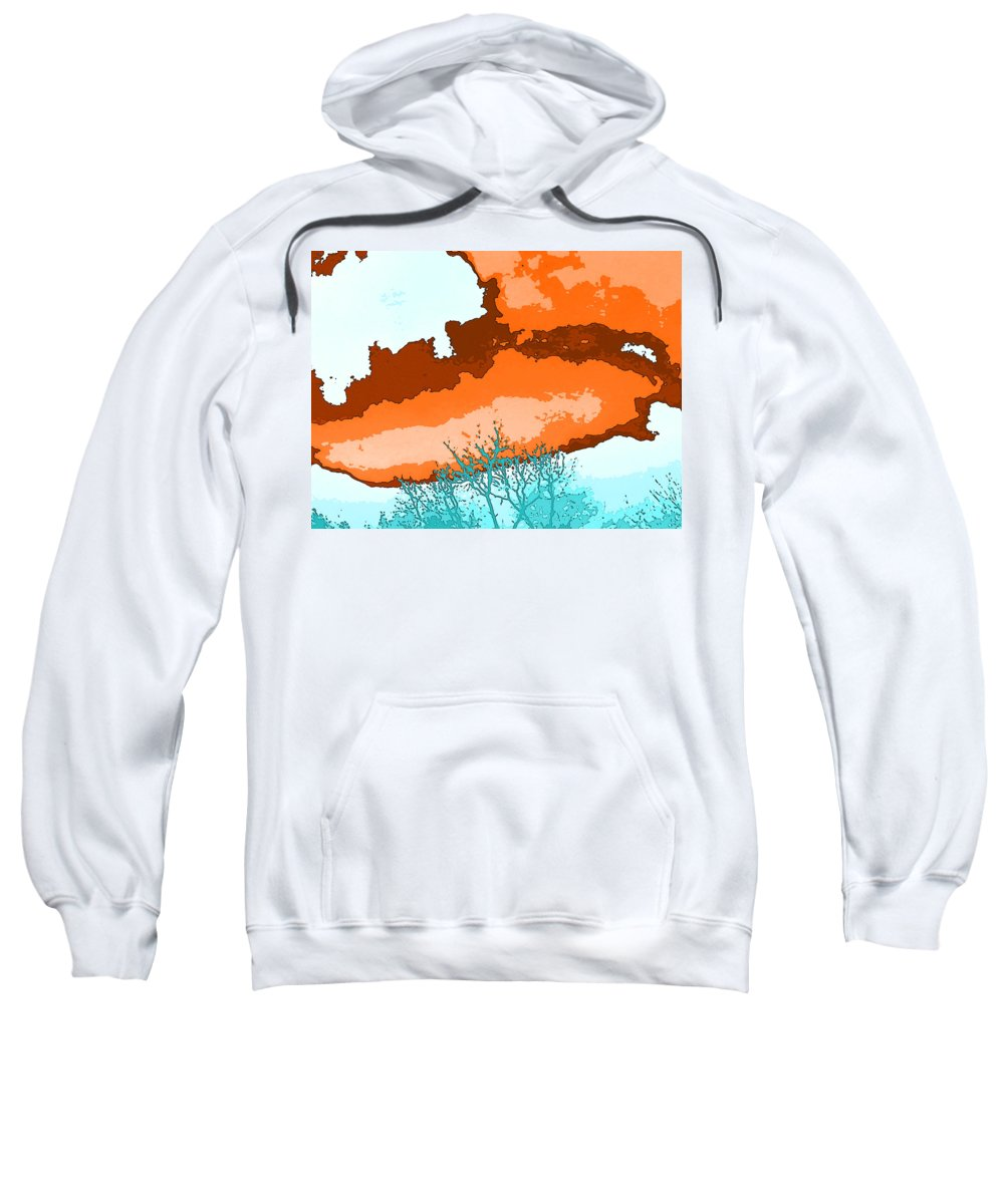 Abstract Sweatshirt featuring the photograph November Sky by Lenore Senior