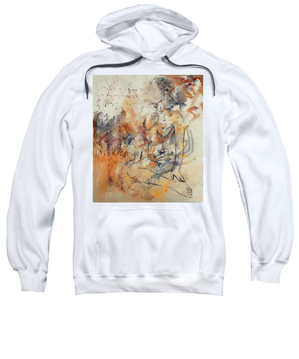 Girl Sweatshirt featuring the painting Nude 679070 by Pol Ledent