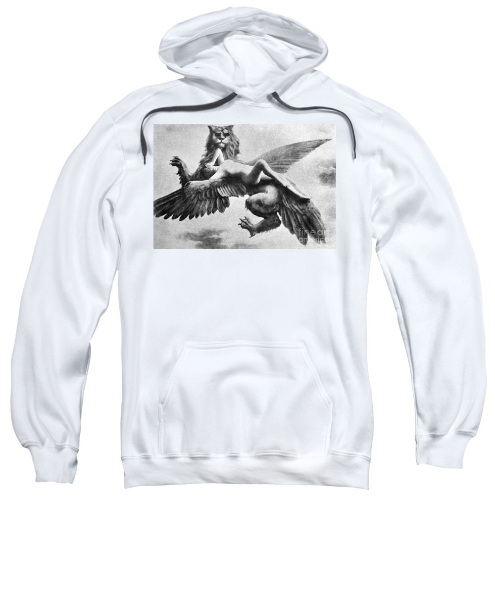 Sweatshirt featuring the painting Nude And Griffin, 1890s by Granger