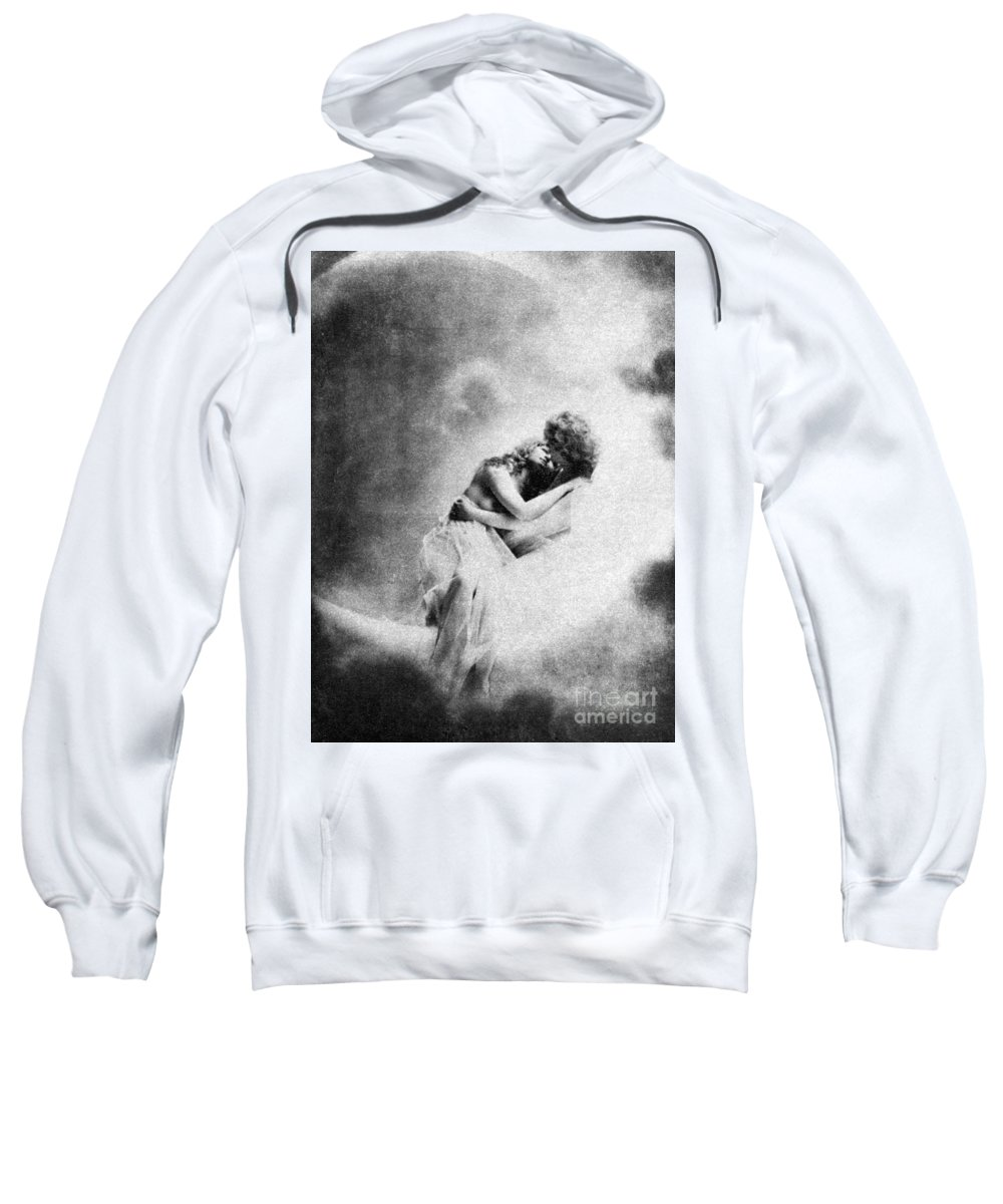 Sweatshirt featuring the painting Nude Love Scene, 1890s by Granger
