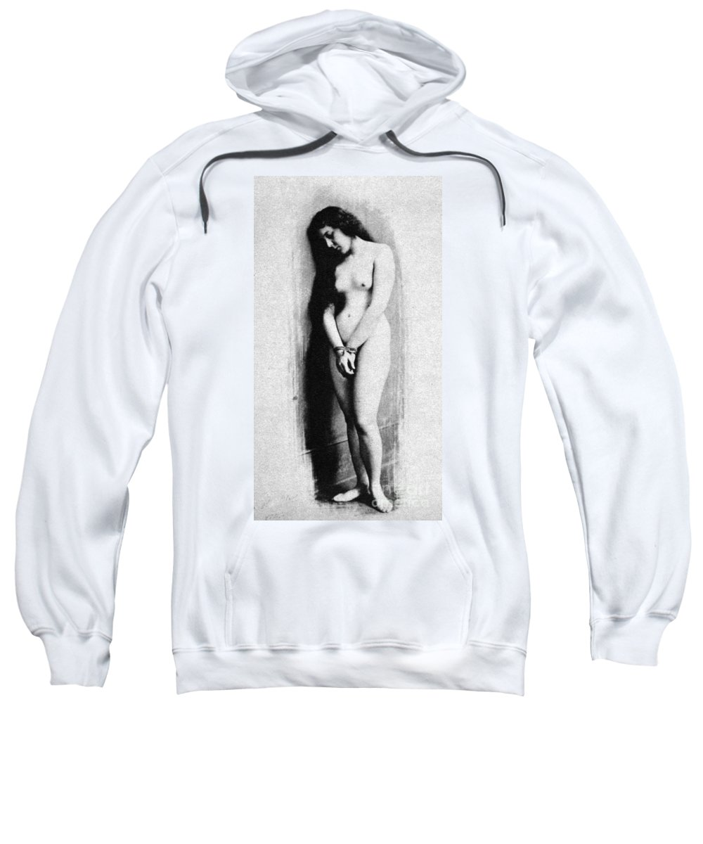 1901 Sweatshirt featuring the photograph Nude Slave, 1901 by Granger