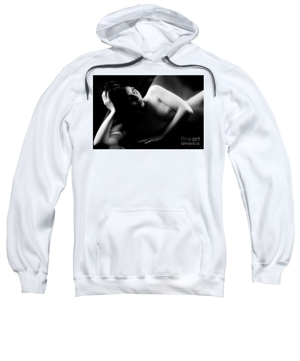 Nude Sweatshirt featuring the photograph Nudo by Cristiano Chianese