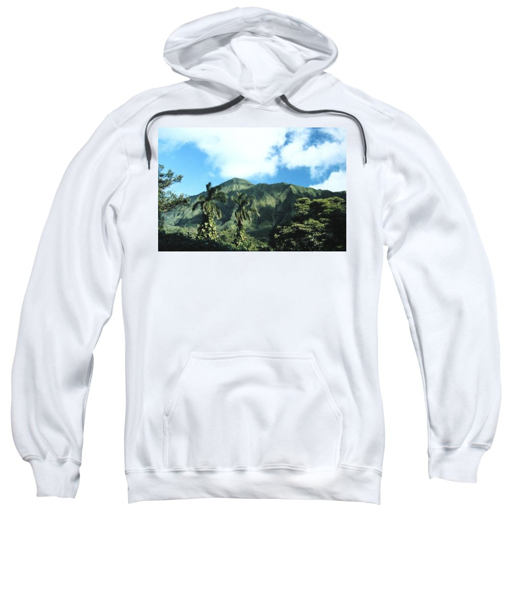 1986 Sweatshirt featuring the photograph Nuuanu Pali by Will Borden