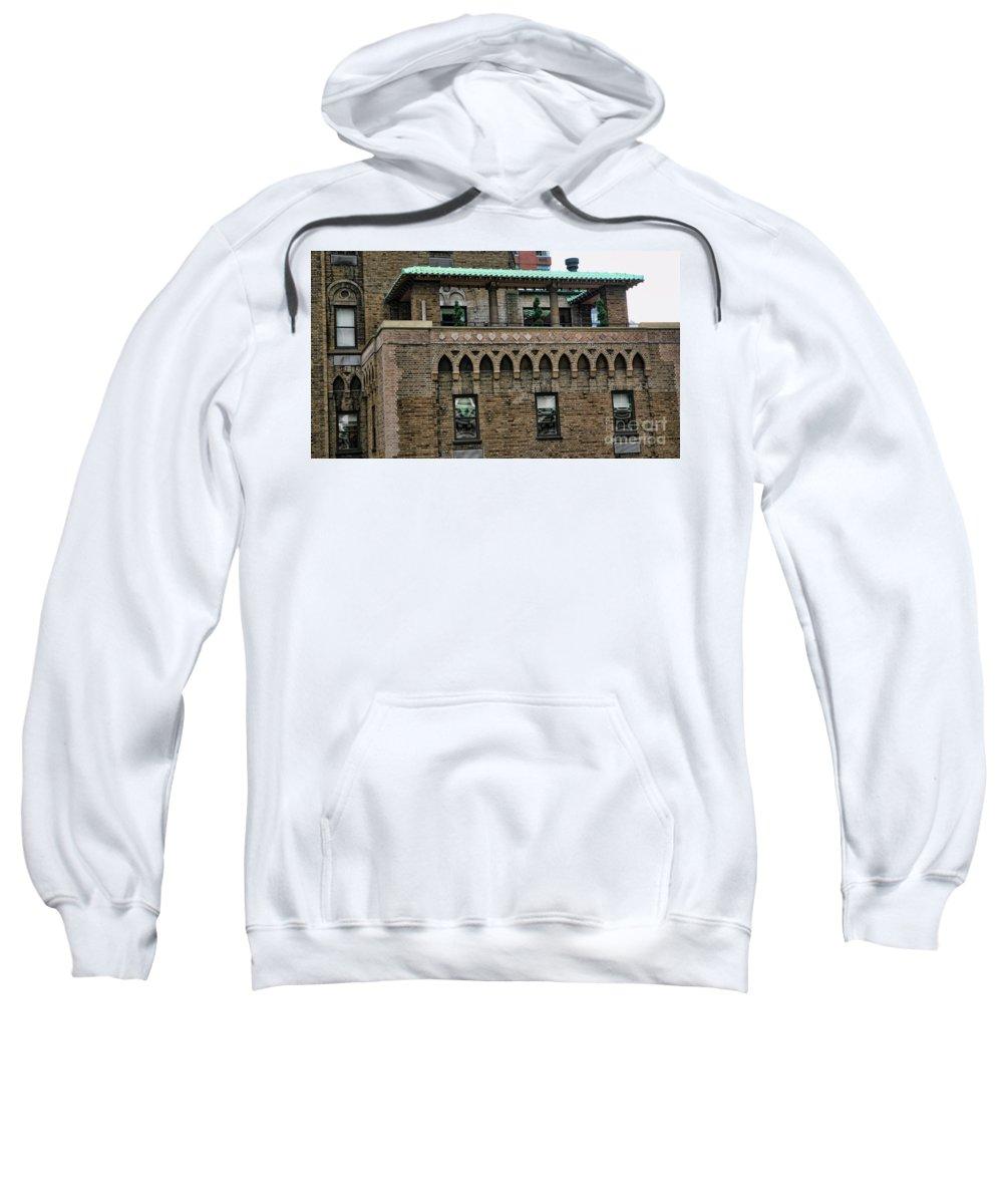 New York Sweatshirt featuring the photograph Ny Bricks 3 by Chuck Kuhn