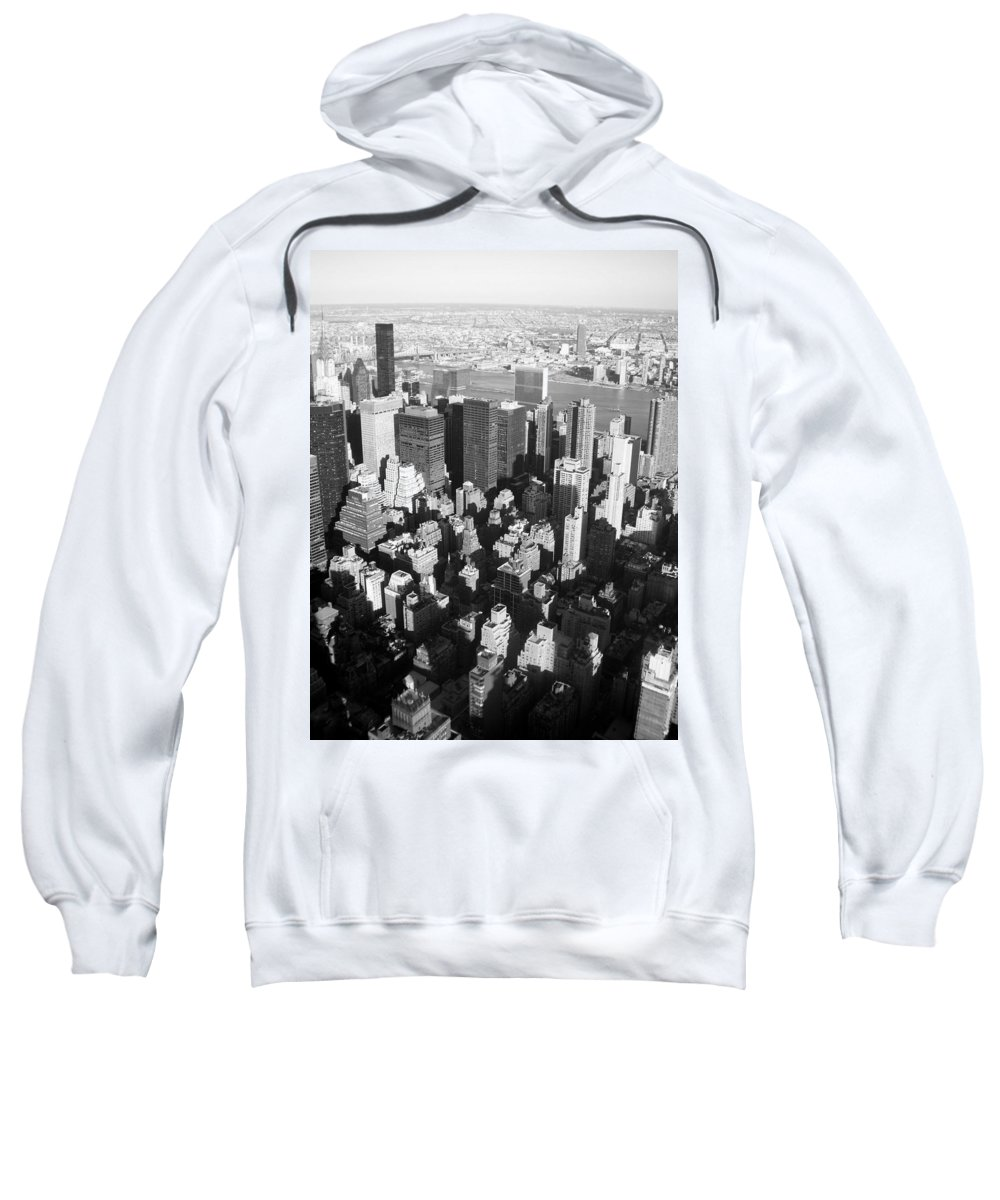 Nyc Sweatshirt featuring the photograph Nyc Bw by Anita Burgermeister