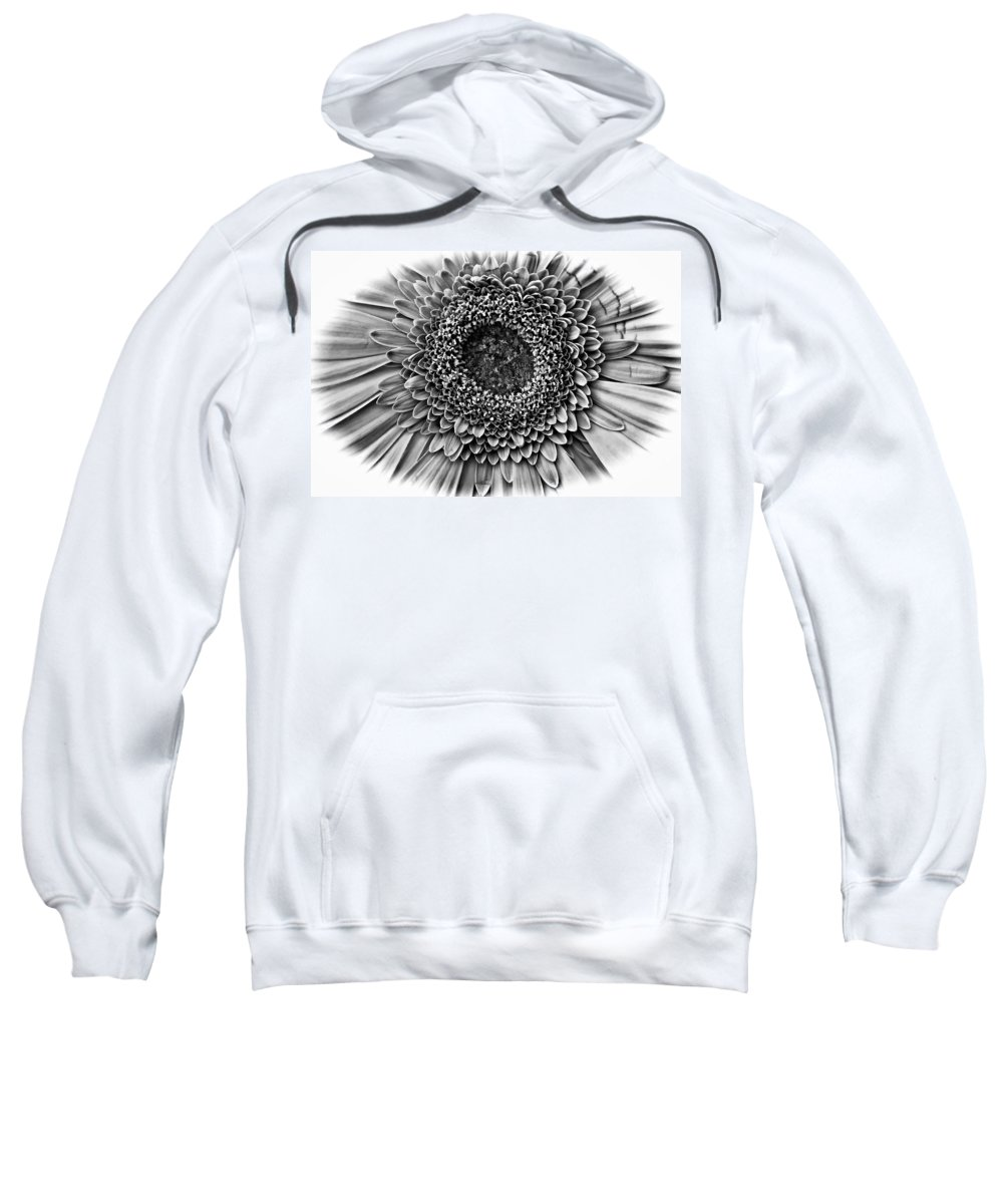 Flower Sweatshirt featuring the photograph O Bw by Steve Harrington