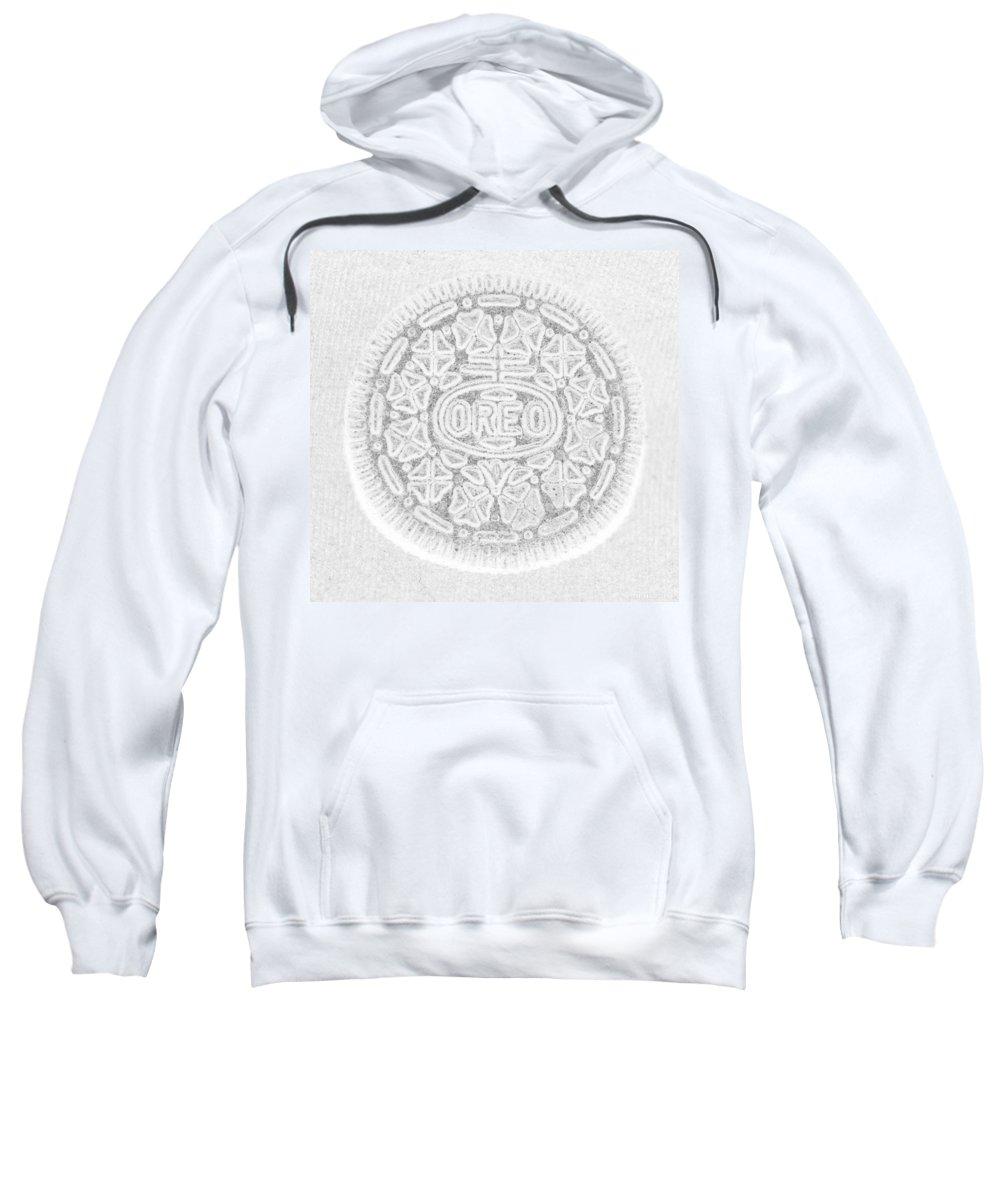 Oreo Sweatshirt featuring the photograph O R E O In White by Rob Hans