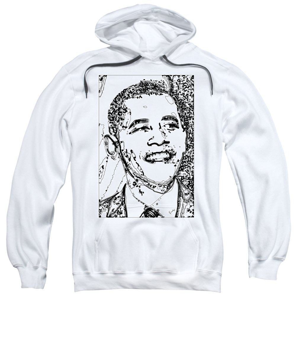 American Sweatshirt featuring the digital art Obama by Rabi Khan