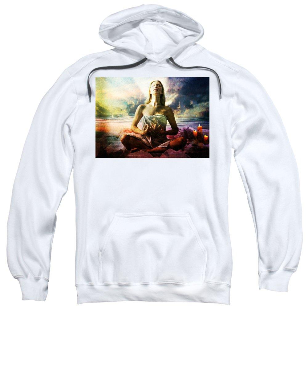 Occult Sweatshirt featuring the digital art Occult by Bert Mailer