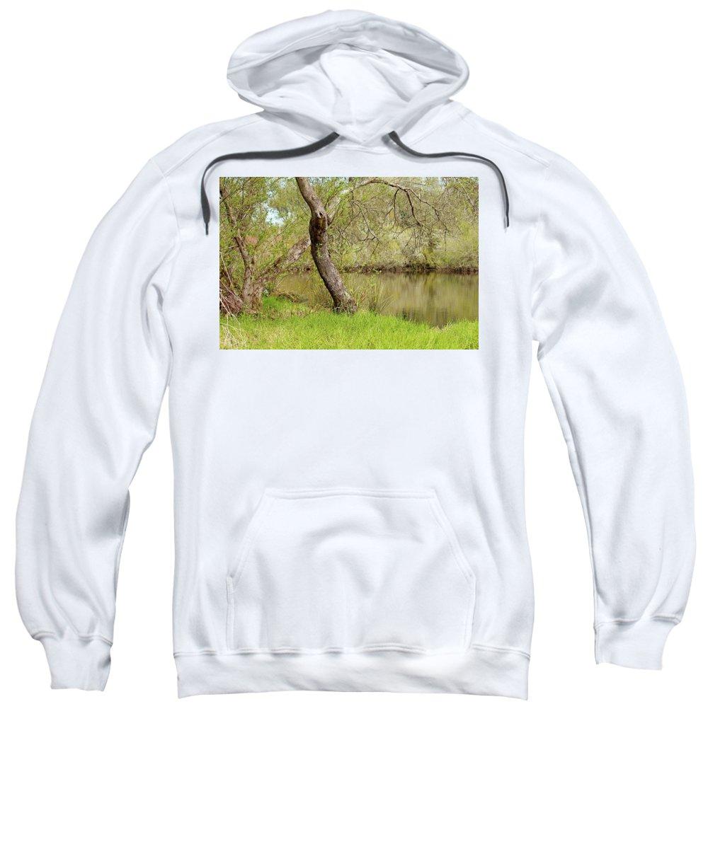 Oceano Sweatshirt featuring the photograph Oceano Lagoon by Art Block Collections