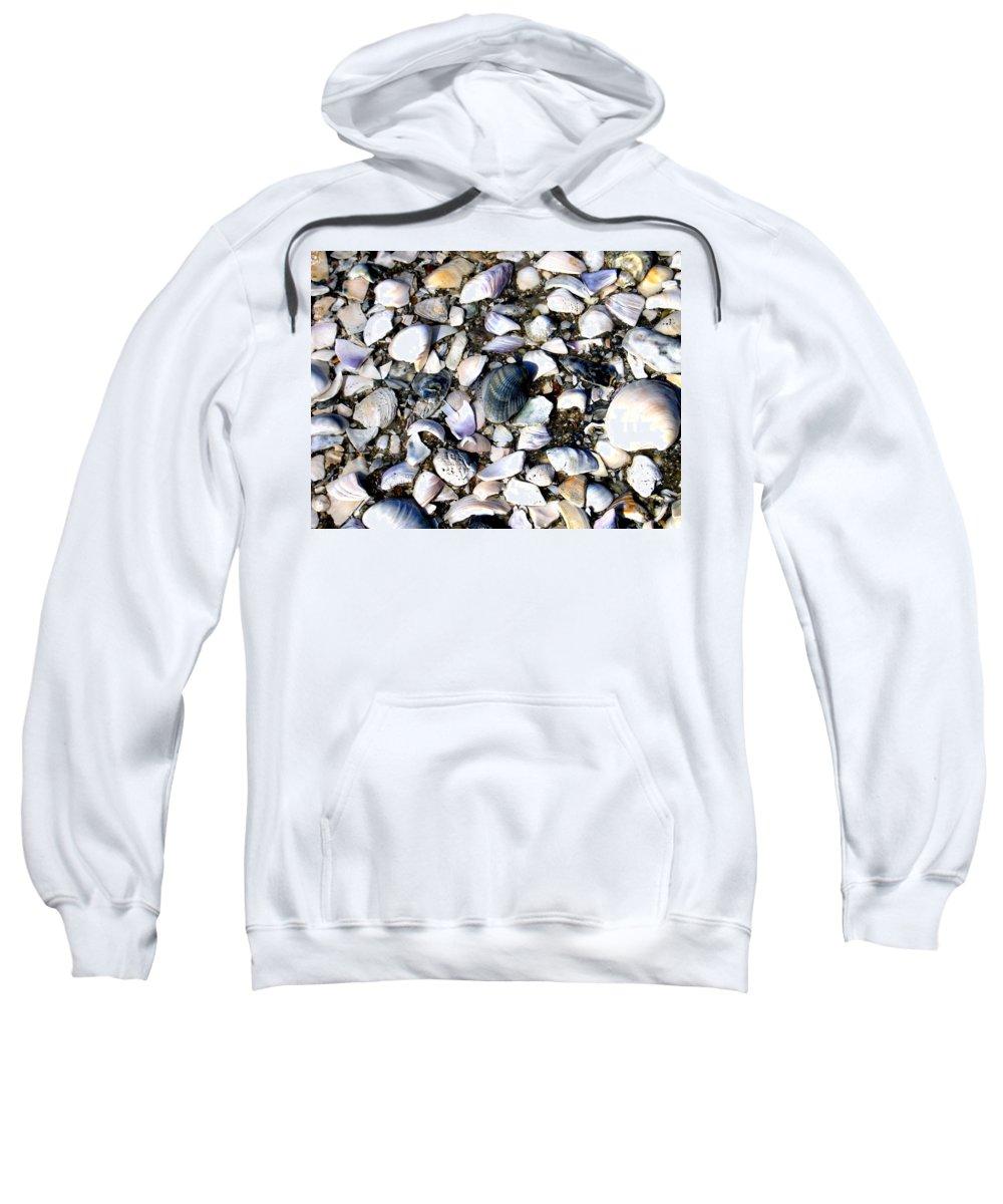 Ocracoke Sweatshirt featuring the photograph Ocracoke Shells by Wayne Potrafka