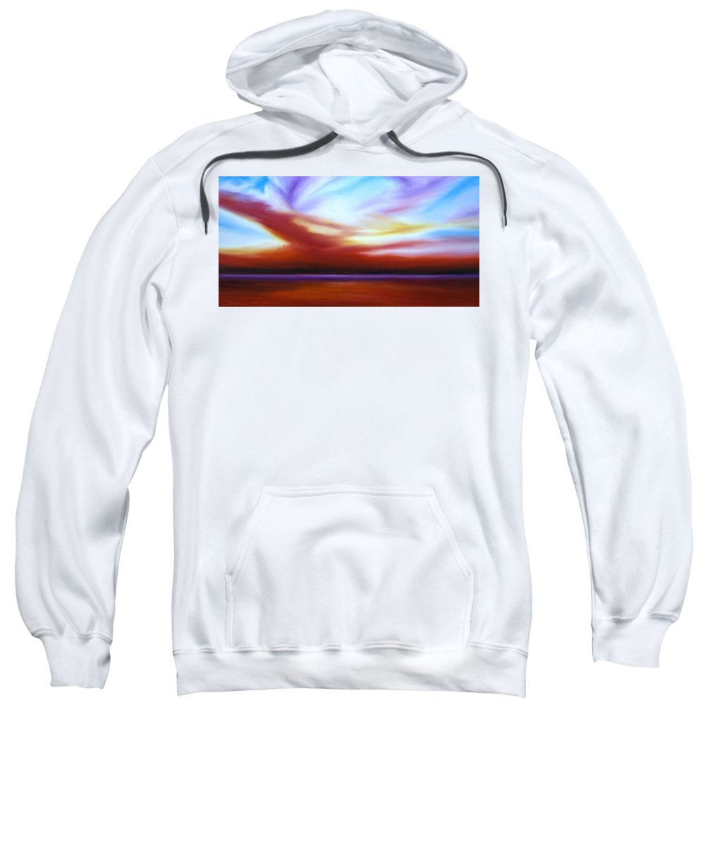 Skyscape Sweatshirt featuring the painting October Sky III by James Christopher Hill